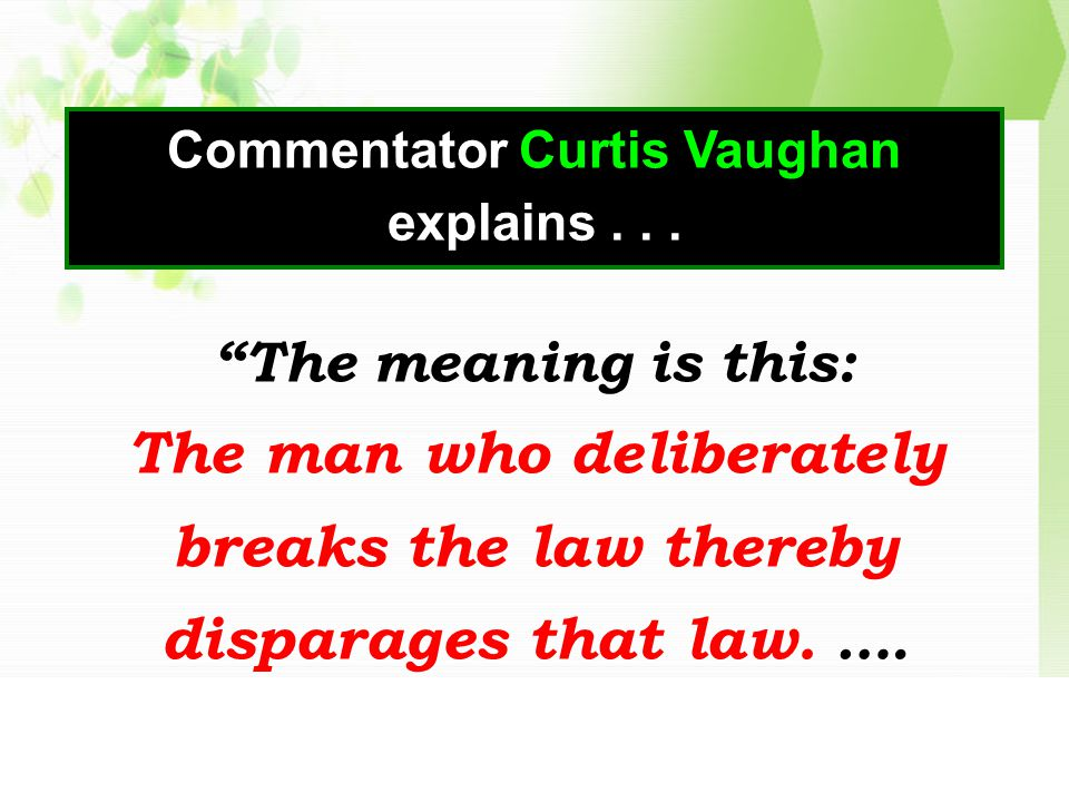 Commentator Curtis Vaughan explains...