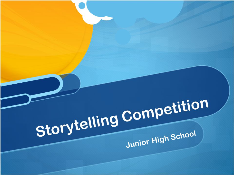 Junior High School Storytelling Competition