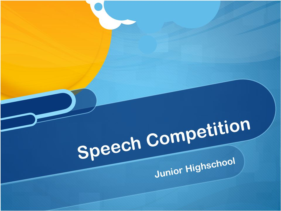 Speech Competition Junior Highschool