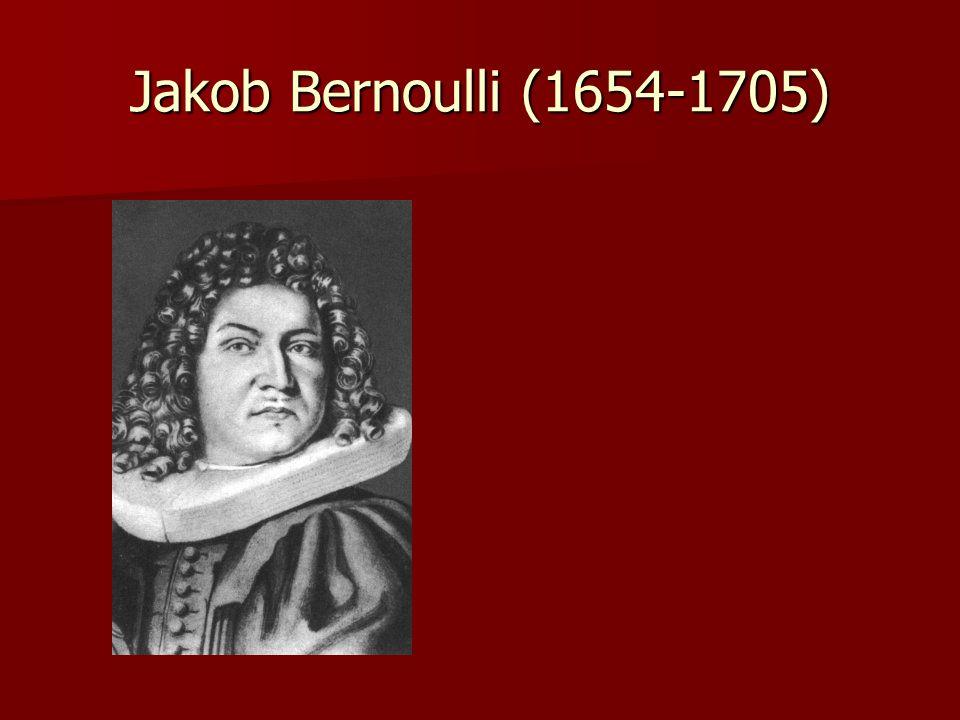 Jakob Bernoulli (1654-1705)