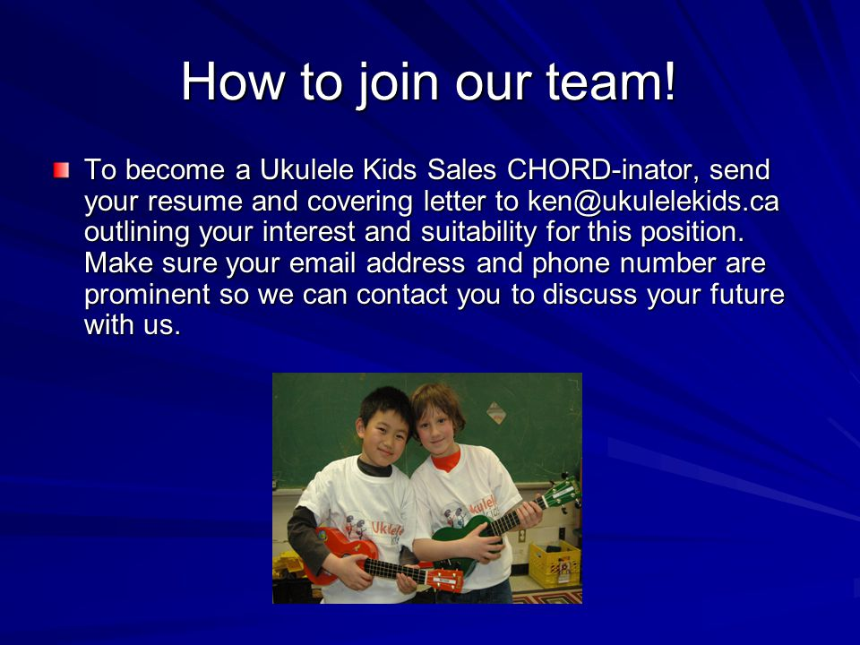 How to join our team.