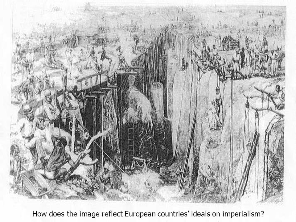 How does the image reflect European countries' ideals on imperialism