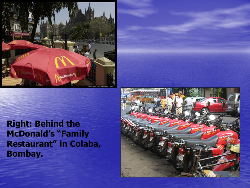 Right: Behind the McDonald's Family Restaurant in Colaba, Bombay.