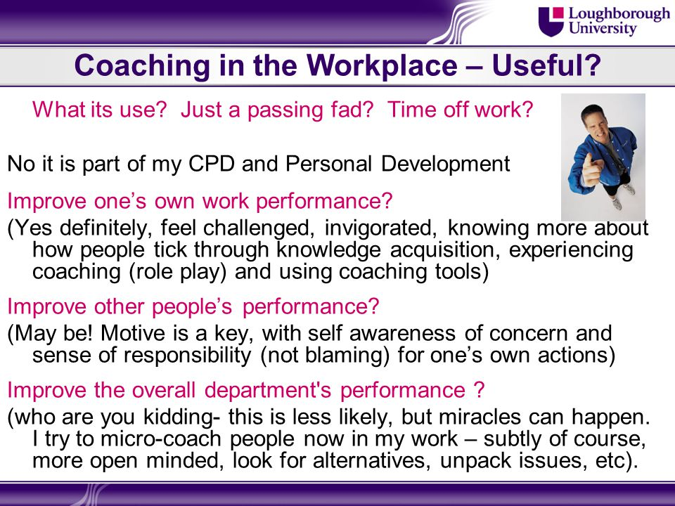 Coaching in the Workplace – The Sage Speaks Words of Wisdom  Its not the tool it's the way that you use it. Meaning you can use any assessment or resource tool you like but it is how you engage it with the coachee that determines its success.