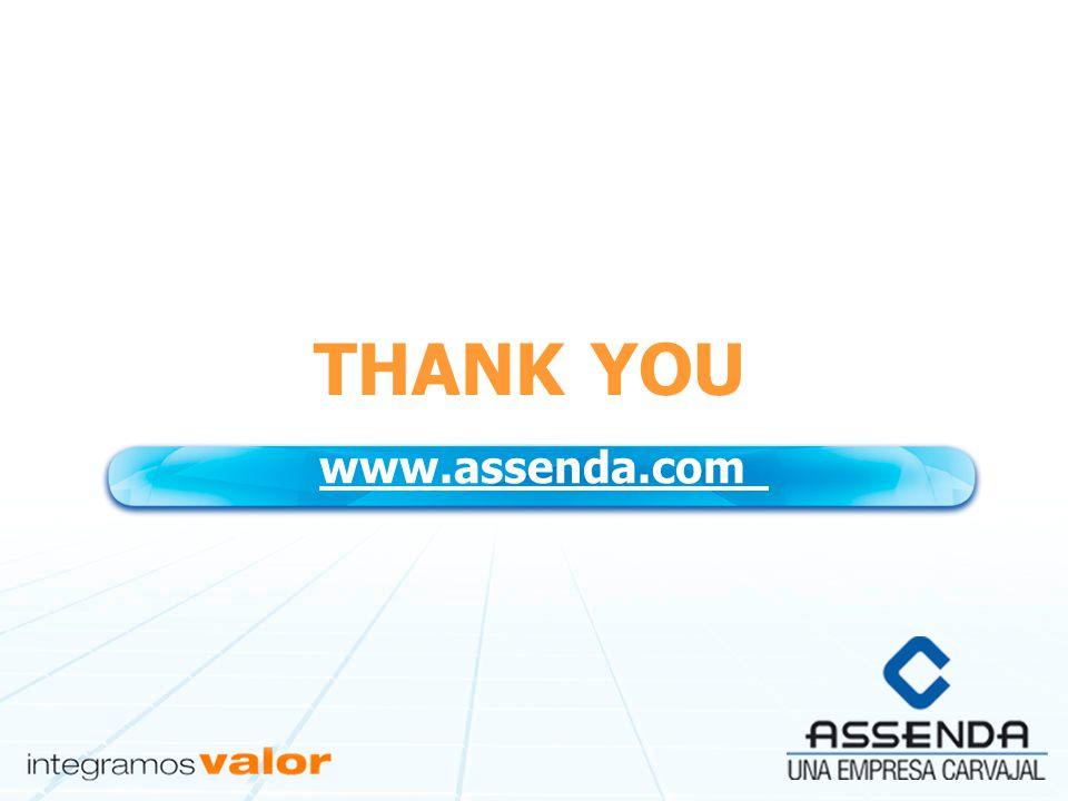 THANK YOU www.assenda.com