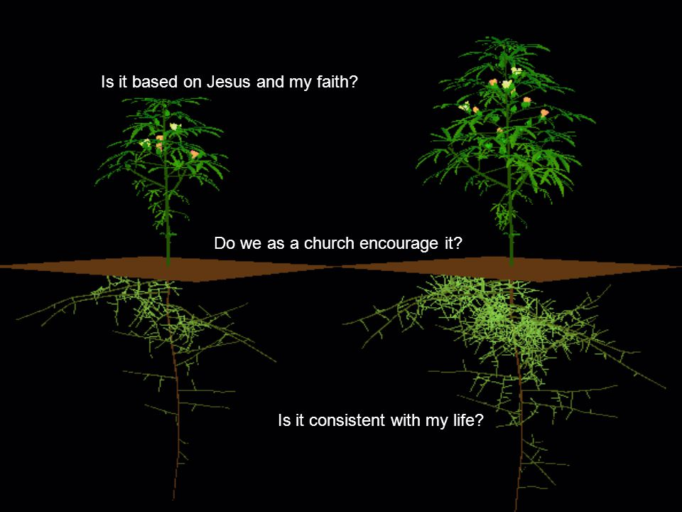 Is it based on Jesus and my faith Do we as a church encourage it Is it consistent with my life