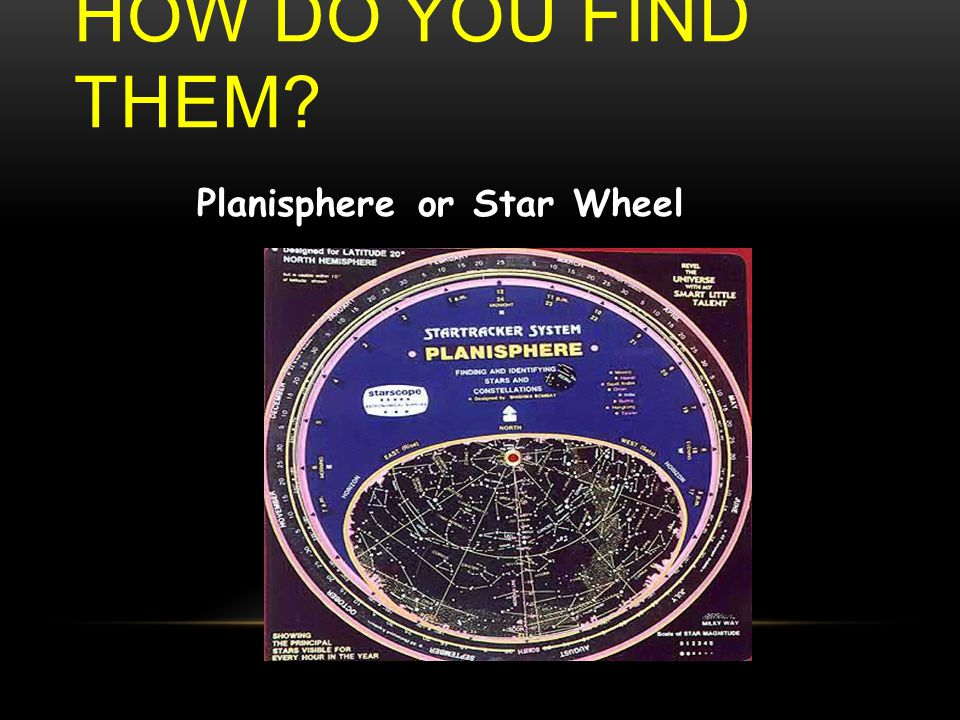 HOW DO YOU FIND THEM? Planisphere or Star Wheel