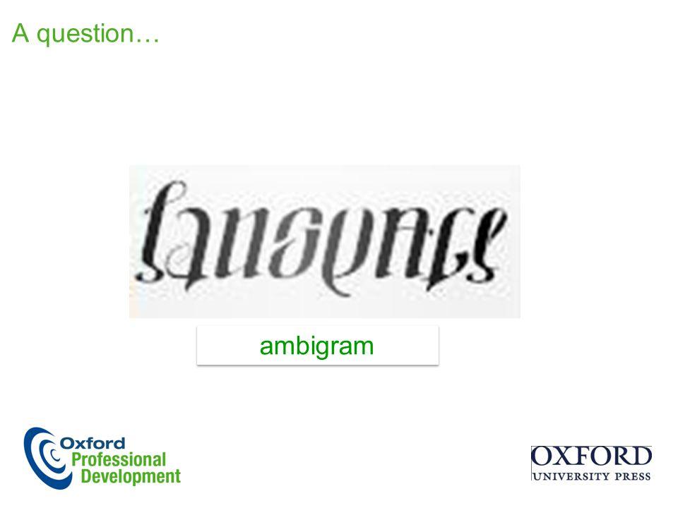 A question… ambigram