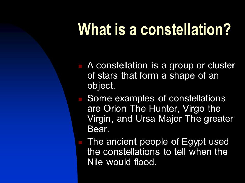 What is the topic that you decided to do your presentation on? I decided to do my presentation on the constellation Orion.