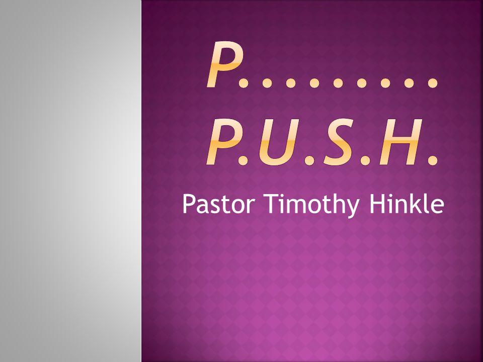 Pastor Timothy Hinkle