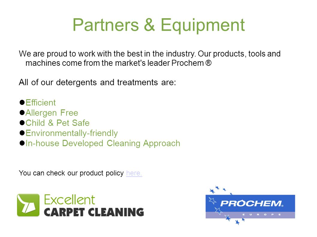 Partners & Equipment We are proud to work with the best in the industry.