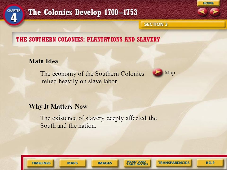 Image What factors led to the use of slaves in the South.