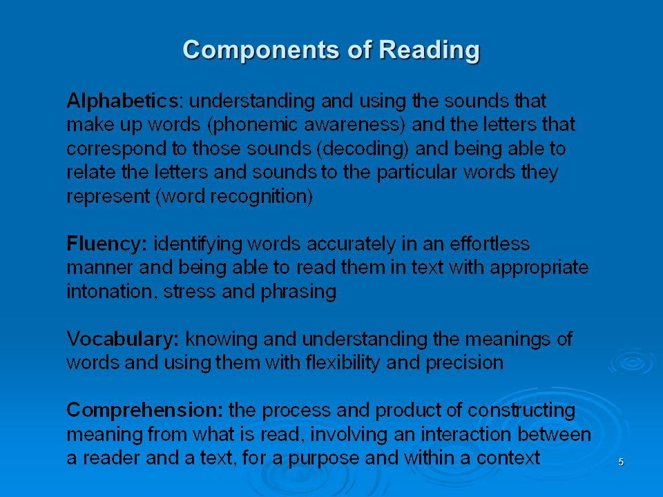16 Vocabulary  As many as 1 out of 2 may be 2 or more years below grade level  Explicit vocabulary instruction may work best for those who struggle most  Instruction should provide multiple opportunities to learn word meanings in a variety of contexts  Instruction should engage learners in application of word meanings  Instruction should emphasize differences as well as similarities in meanings