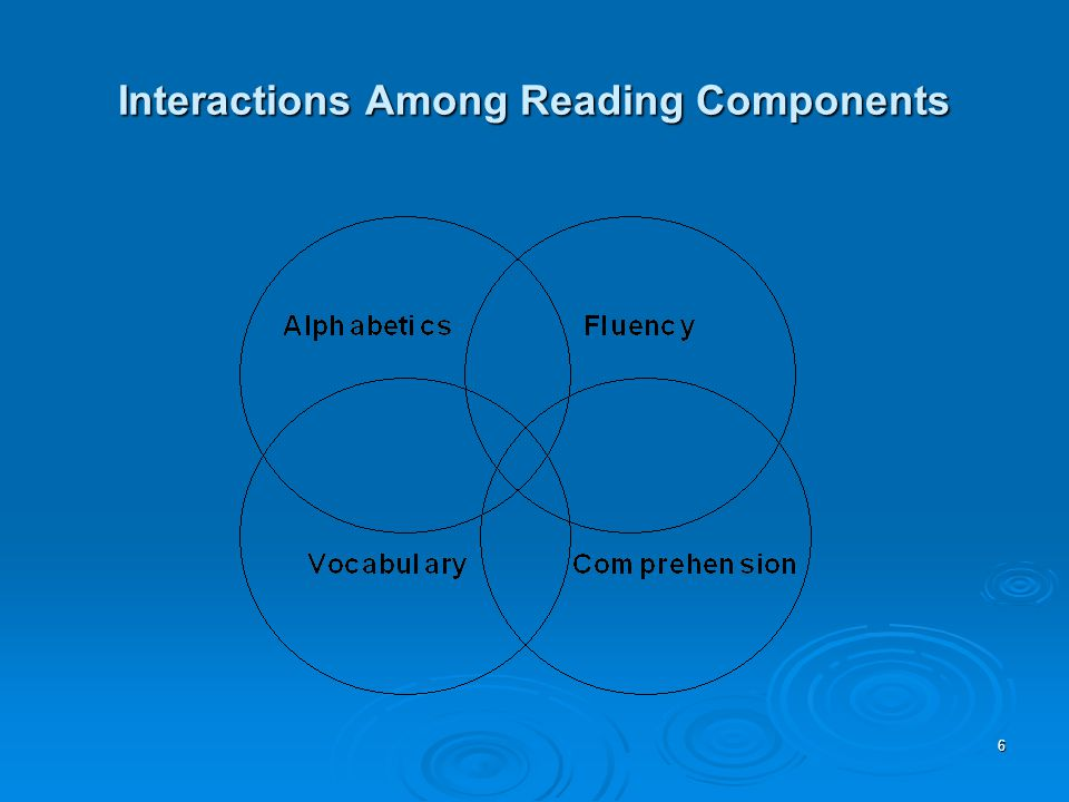 6 Interactions Among Reading Components