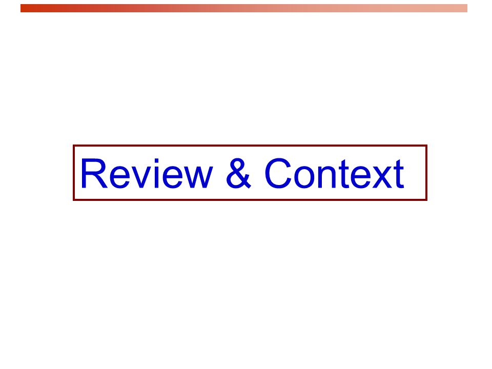 Review & Context