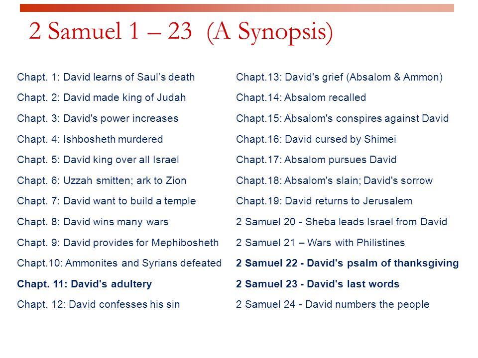 2 Samuel 24: 1 - 25 Counting (& Motives)