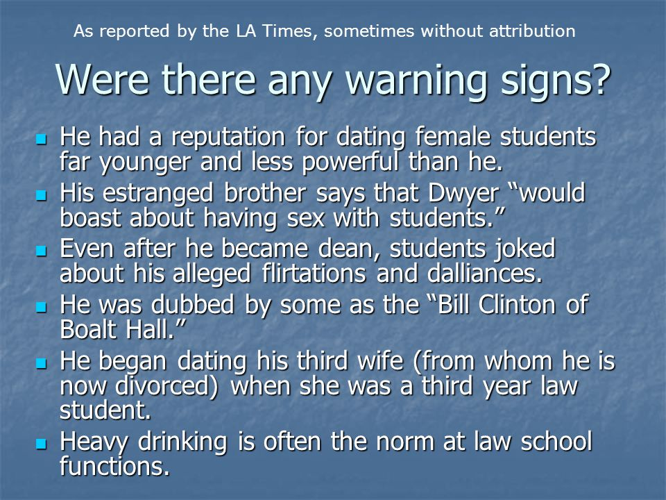 Were there any warning signs.
