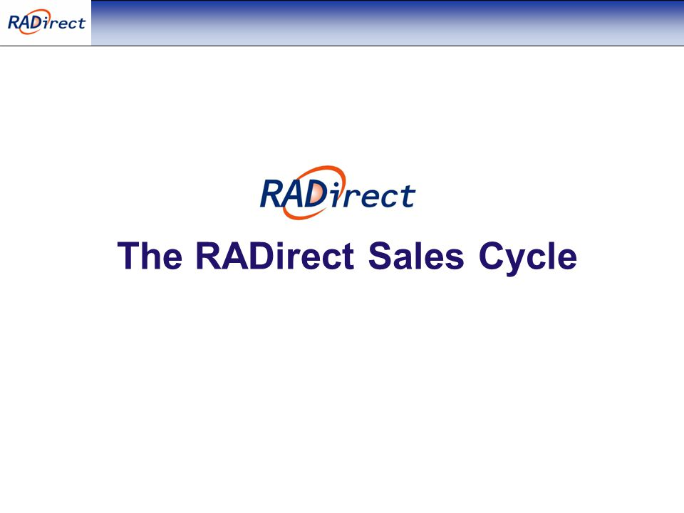 The RADirect Sales Cycle