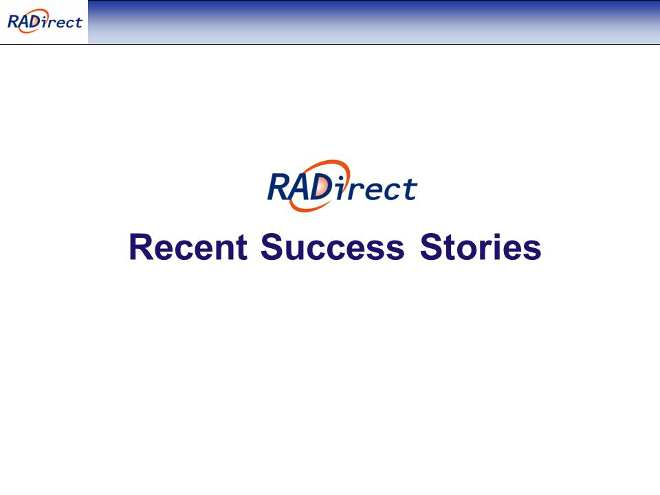 Recent Success Stories