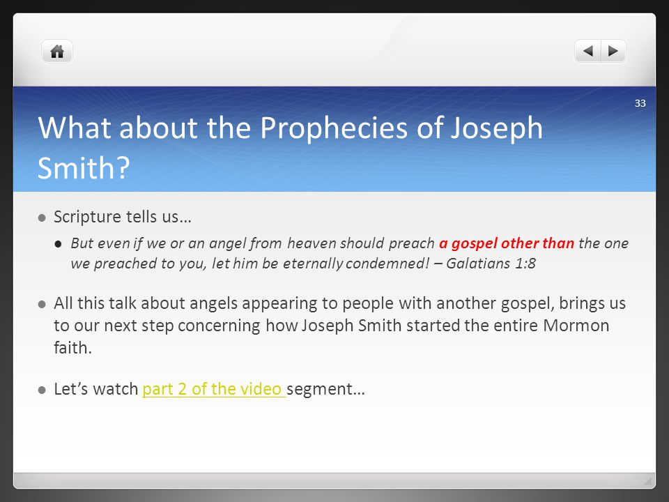 What about the Prophecies of Joseph Smith.