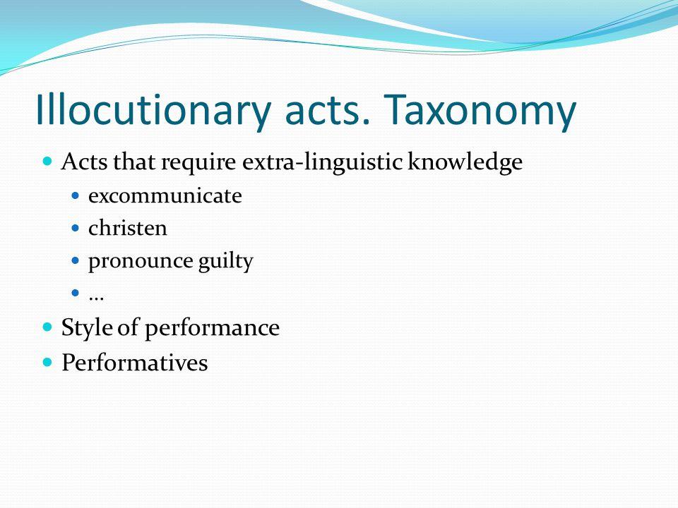 Illocutionary acts.