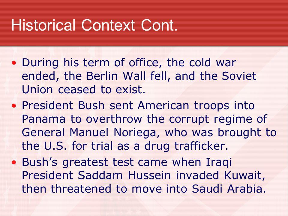 Historical Context Cont.