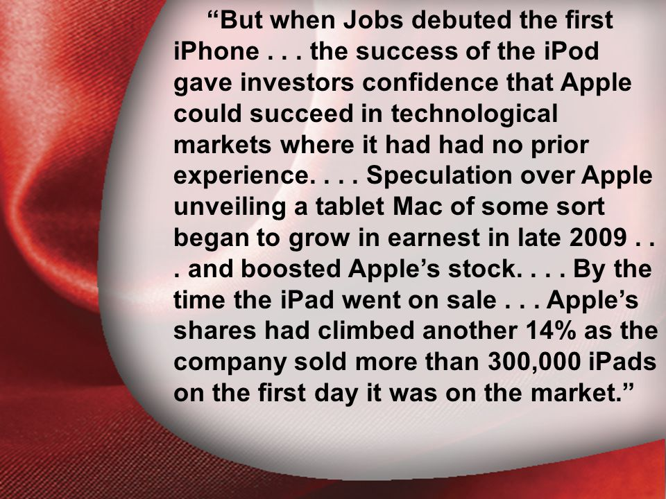 I. The Return of the Lord But when Jobs debuted the first iPhone...