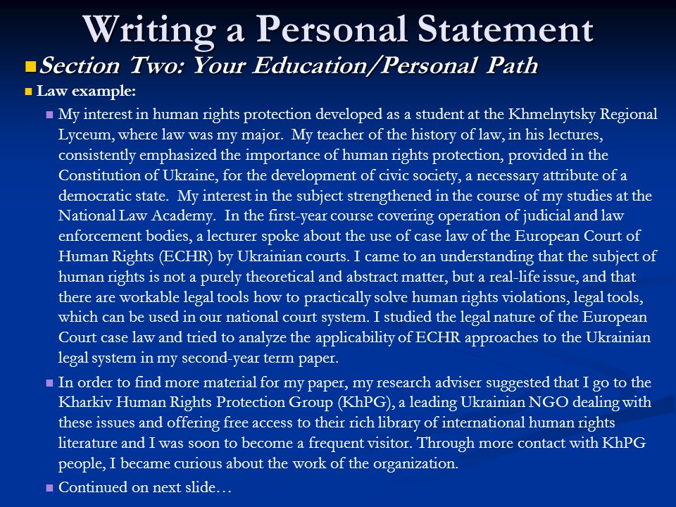social work personal statement conclusion