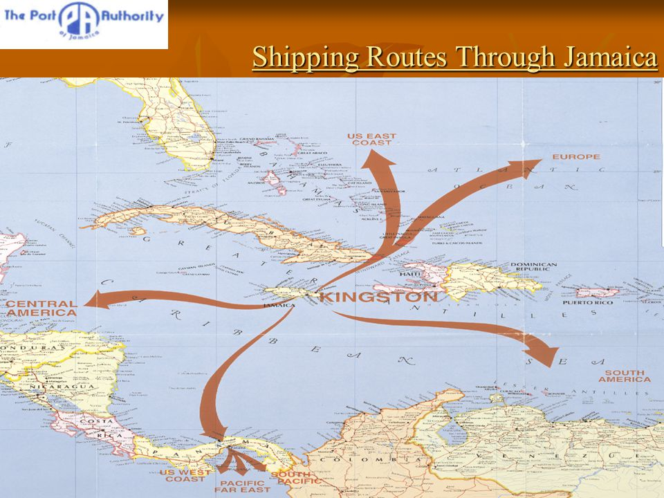Shipping Routes Through Jamaica Shipping Routes Through Jamaica