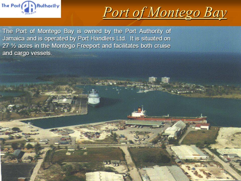Port of Montego Bay Cruise Ship Facilities