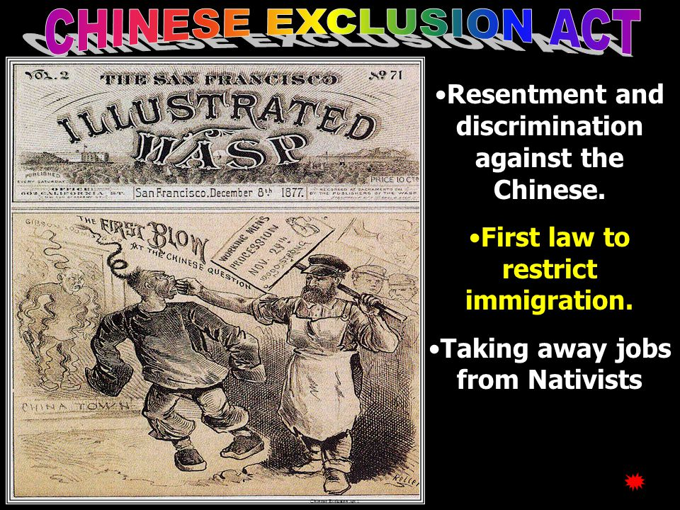 Cartoon: Immigration Old Immigrants resented the New Immigrants.