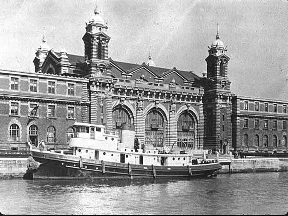 """Ellis Island Ellis Island was built in 1892 as the 1 st """"Immigration Center"""" Later, closed in the 1940s Today it is a museum. The goal was to """"screen"""""""