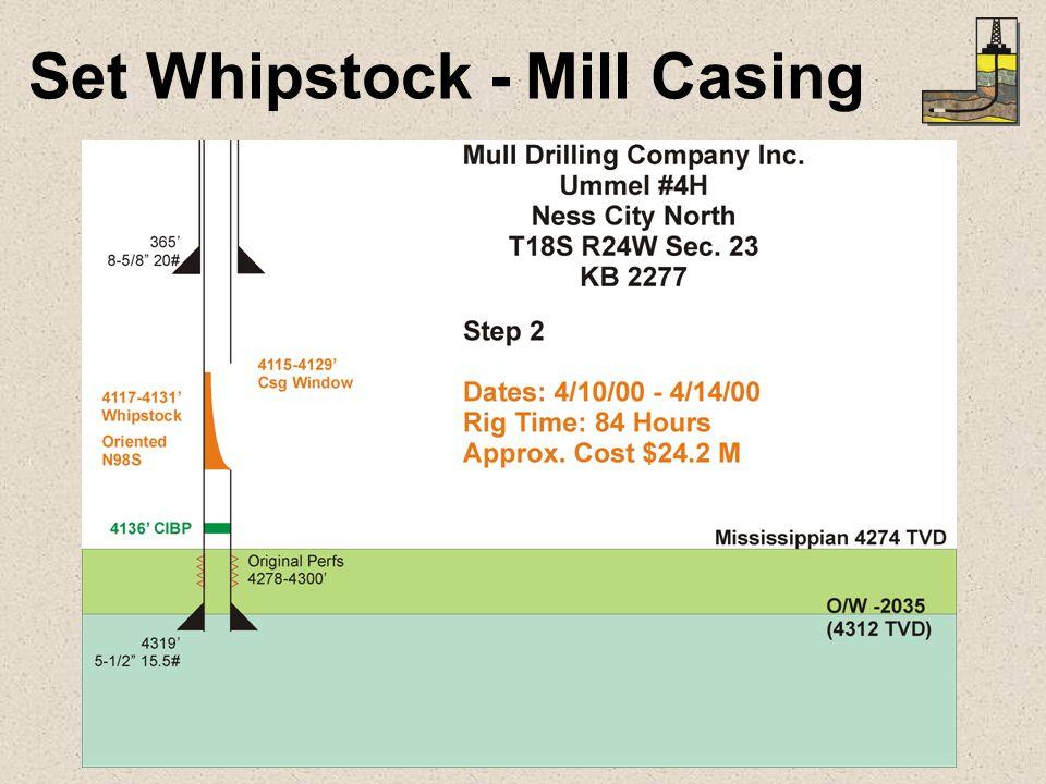 Set Whipstock - Mill Casing