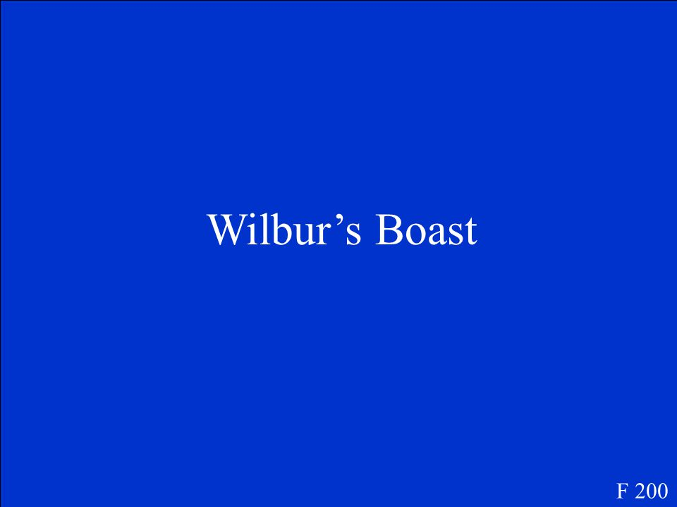 Name the chapter when Wilbur tried to spin a web but could not. F 200