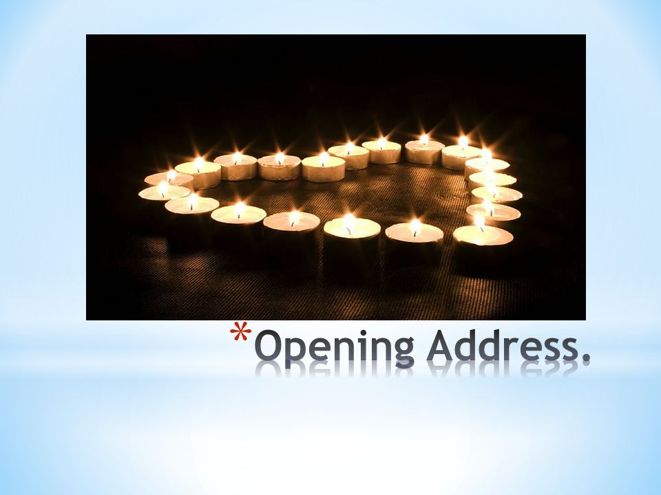 * We bring to the altar a candle representing the Light of Christ.
