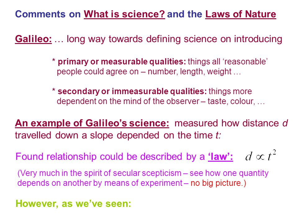Comments on What is science.