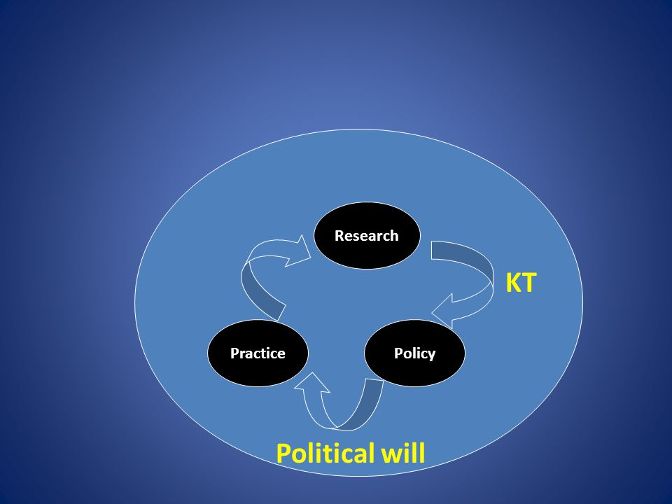 Research PracticePolicy KT Political will