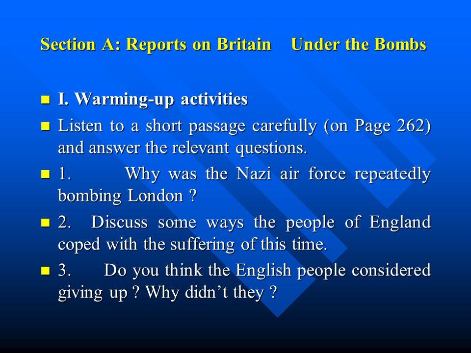I.Listening: I. Listening: 1. Listen to Understanding short conversations (Page 159) 1.