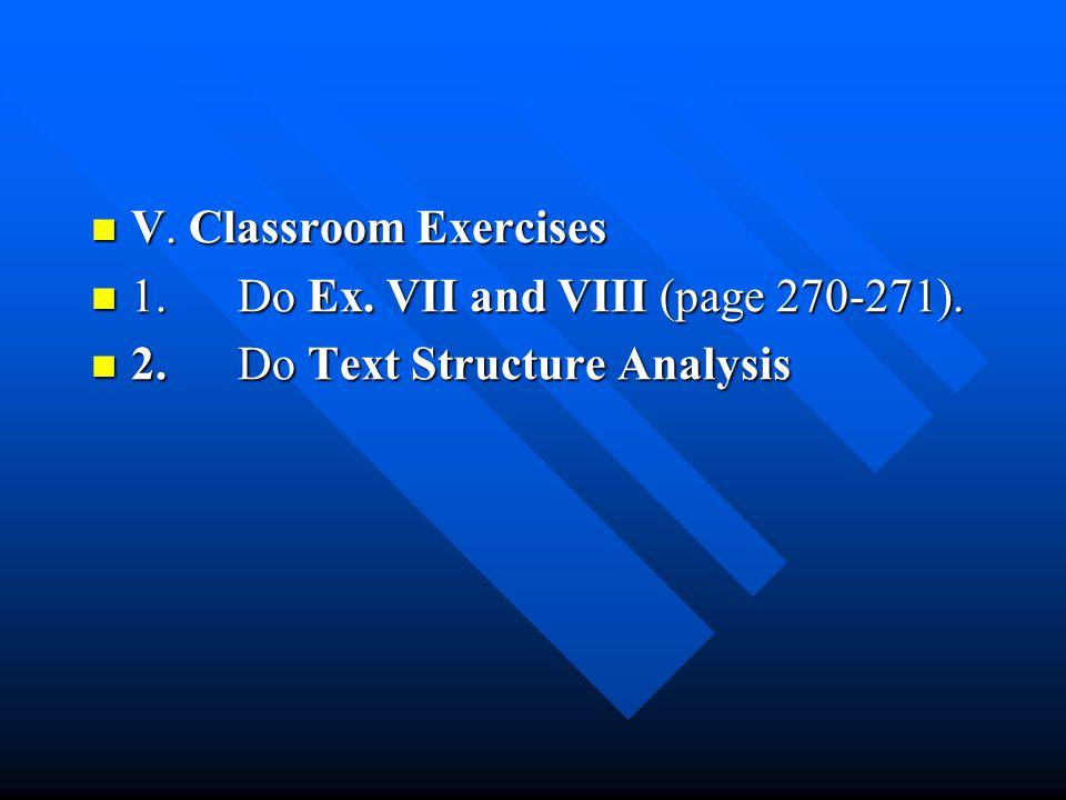 V. Classroom Exercises V. Classroom Exercises 1.