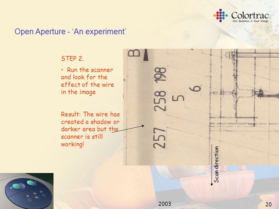 2003 19 Open Aperture - 'An experiment' STEP 1.