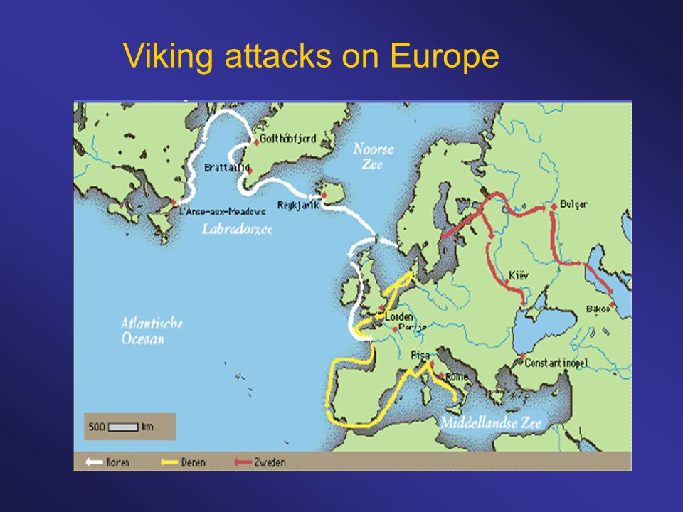 Viking attacks on Europe