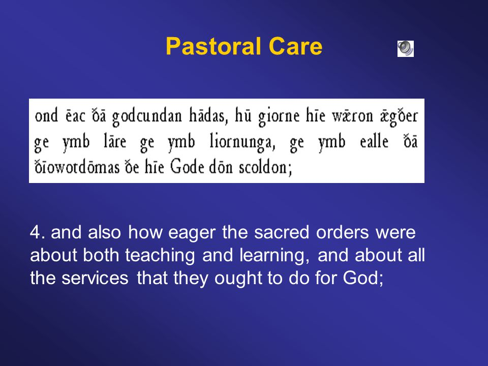 Pastoral Care 5.