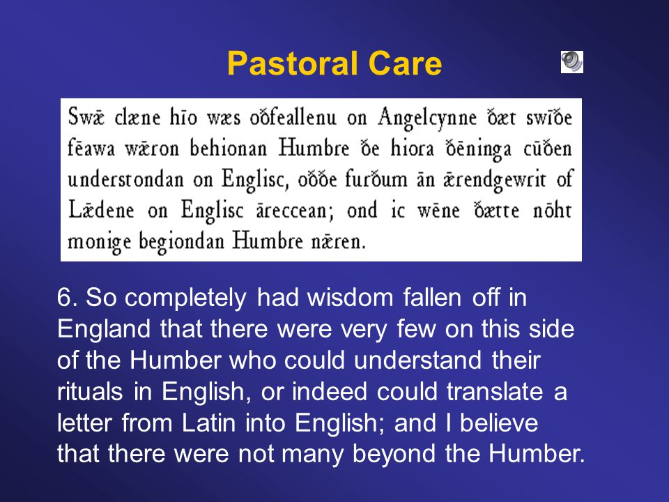 Pastoral Care 6.