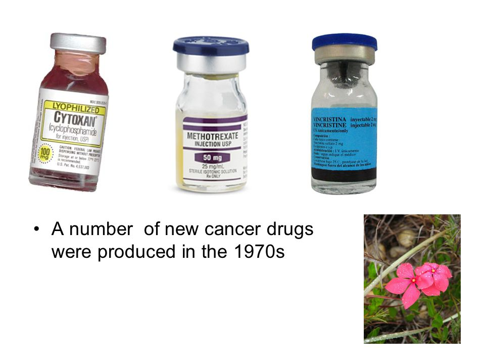 A number of new cancer drugs were produced in the 1970s