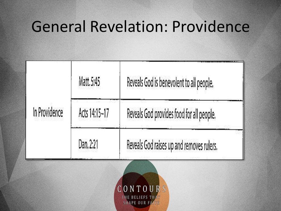 General Revelation: Providence