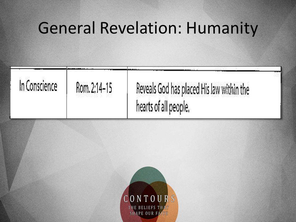 General Revelation: Humanity