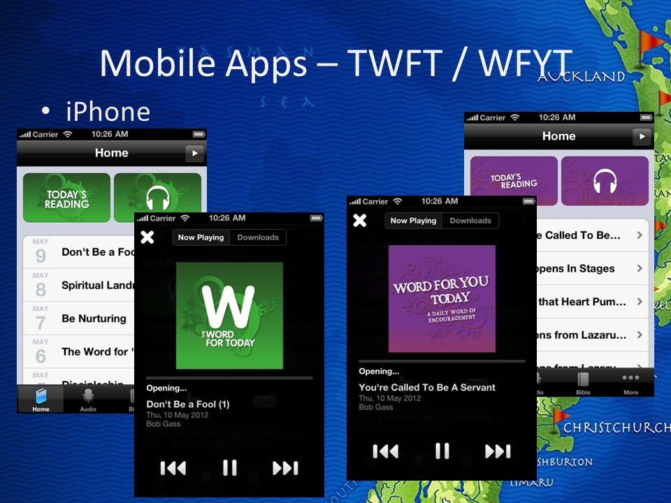 Mobile Apps – TWFT / WFYT iPhone