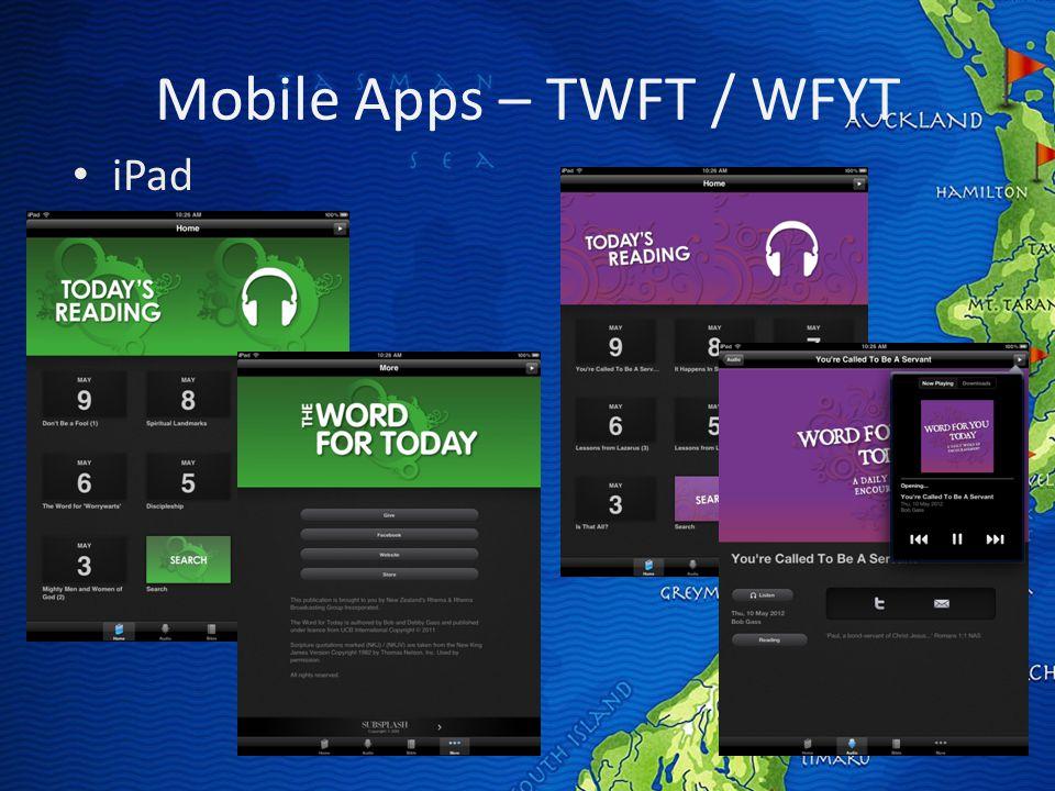 Mobile Apps – TWFT / WFYT iPad