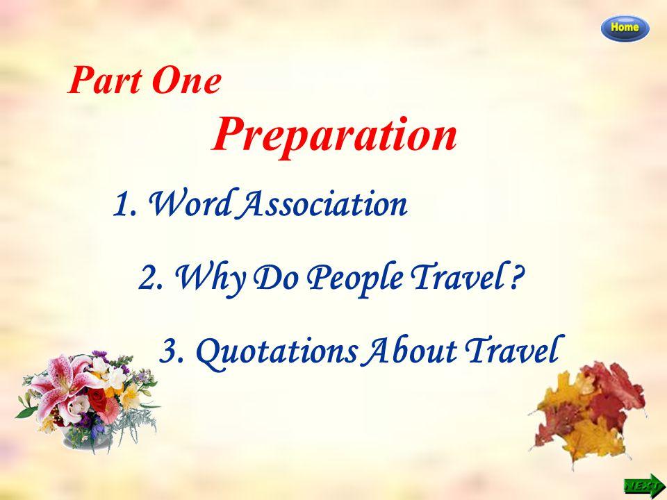 Part One: Preparation >> Word Association Word Association Work in groups.