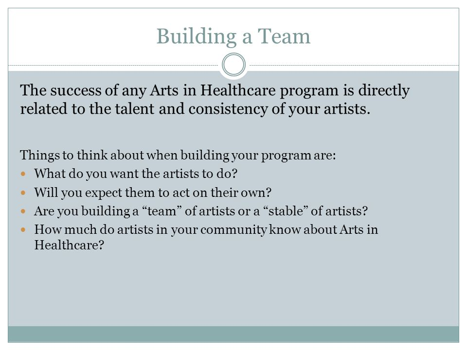 Identifying Excellence Recruitment – attracting your community's best artistic resources to your program.